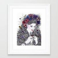 Fairest Flora Framed Art Print