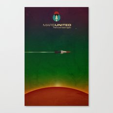 Mars United In Flight Canvas Print