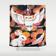 Shower Curtain featuring The Owl by Judy Skowron