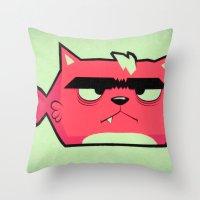 Cat-Fish Throw Pillow