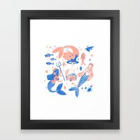 Ocean treasures Framed Art Print