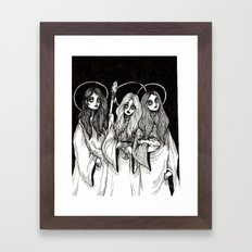 THREE WITCHES.    Framed Art Print