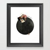 Life on Earth  | Collage | White Framed Art Print