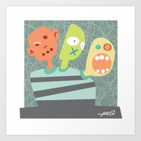 3 Heads Are Better Than … Art Print