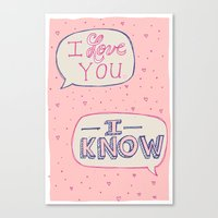Conceited Valentine Canvas Print