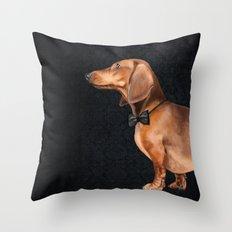 Elegant dachshund. Throw Pillow