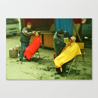 Barbershop Canvas Print