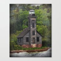 Grand Island East Channel Lighthouse Canvas Print