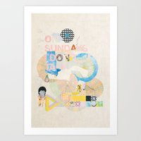 ON SUNDAYS I DON'T TALK Art Print