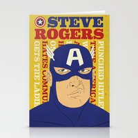 Steve Rogers/Captain Ame… Stationery Cards