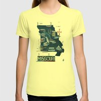 MISSOURI Womens Fitted Tee Lemon SMALL