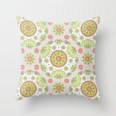 Pink Lotus Mandala Throw Pillow