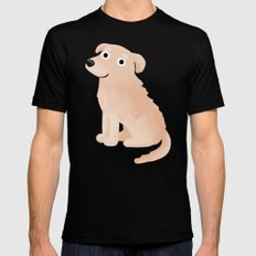Golden Retriever - Cute Dog Series SMALL Mens Fitted Tee Black