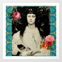 Alice Collage Art Print