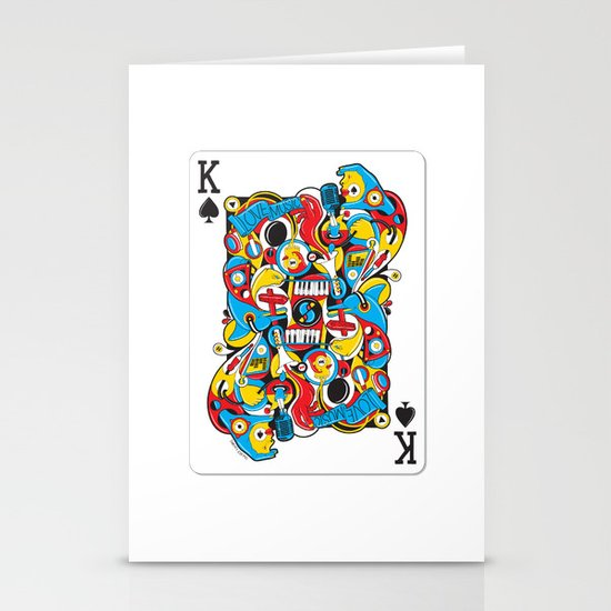 King Of Spades Stationery Card