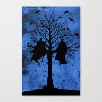 The Bat & The Bird Canvas Print