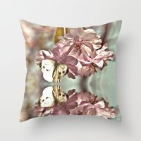 Vintage Reflections Throw Pillow