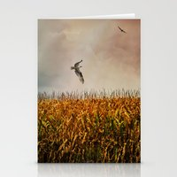 Soaring on the edge of a storm Stationery Cards