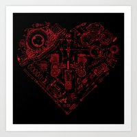 Robotic Heart Art Print