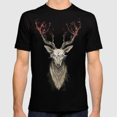 Deer tree Mens Fitted Tee Black SMALL