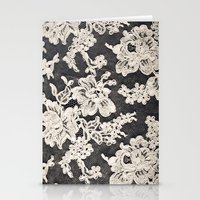 Black And White Lace- Ph… Stationery Cards