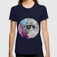 I'll be looking at the moon... and I'll be seeing you Womens Fitted Tee Navy SMALL