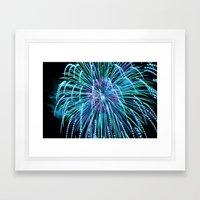 Teal New Year Framed Art Print