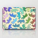Rhino Patchwork Pattern - rainbow iPad Case