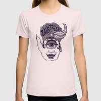 Talk to the Hand Womens Fitted Tee Light Pink SMALL