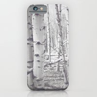 iPhone & iPod Case featuring Black and White Aspens by Jessica Torres Photography