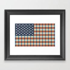 Plaid Flag. Framed Art Print