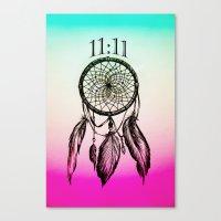 11:11 Eleven Eleven Spiritual Dream Catcher Canvas Print