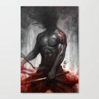 Samurai Vengeance Canvas Print