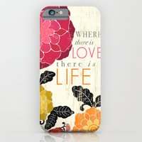 iPhone & iPod Case featuring Where there is Love there is Life by petite stitches