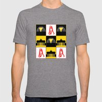 Berlin Mens Fitted Tee Tri-Grey SMALL