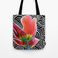 Tulip Drawing Meditation Tote Bag