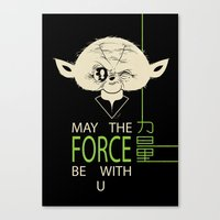 Starwars Yoda - May The Force Be With U Canvas Print