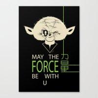 Starwars Yoda - May The … Canvas Print