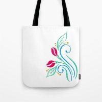 Abstract tulip motif Tote Bag