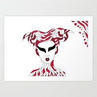 Aries / 12 Signs of the Zodiac Art Print