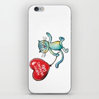 Happy Valentine's Day - Balloon heart and a kitten iPhone & iPod Skin