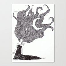Moon Hair Canvas Print