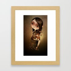 Gold Cage Framed Art Print