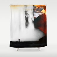 Isolation Fall Shower Curtain