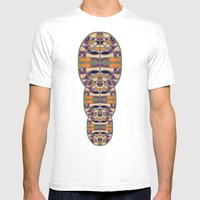 Gaudy Gaudi Orange & Pur… Mens Fitted Tee White SMALL