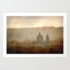 Cityscape - late afternoon Art Print