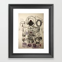 Weighing Fake Hearts Framed Art Print