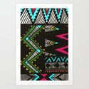 Tribal Dark Art Print