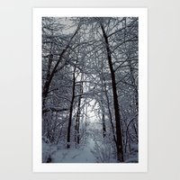 Riders on the Snow. Art Print