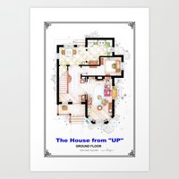 The House From UP - Grou… Art Print
